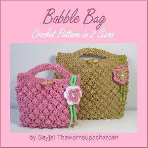 Bobble Bag Crochet Pattern in 2 Sizes