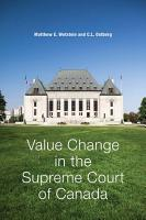 Value Change in the Supreme Court of Canada PDF
