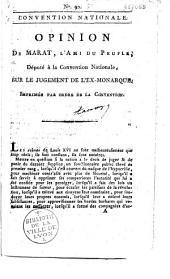 Opinion de Marat... sur le jugement de l'ex-monarque
