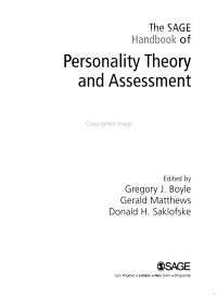 The SAGE Handbook of Personality Theory and Assessment PDF