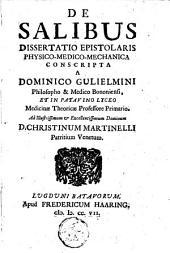 De salibus dissertatio epistolaris physico-medico-mechanica
