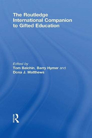 The Routledge International Companion to Gifted Education PDF