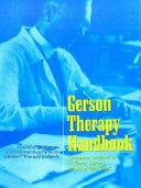 Gerson Therapy Handbook PDF