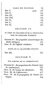 Essai de statique chimique: Volume1