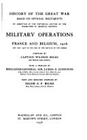 Military Operations  France and Belgium  1914 1918 PDF