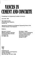 Advances in Cement and Concrete PDF
