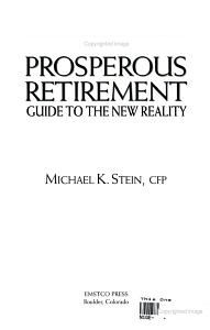 The Prosperous Retirement PDF