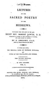 Lectures on the Sacred Poetry of the Hebrews: Volume 1