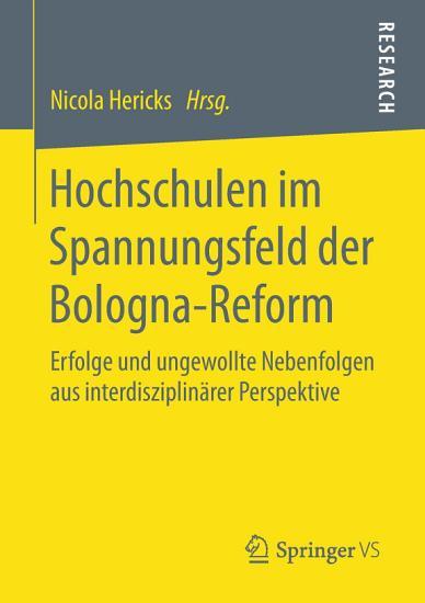 Hochschulen im Spannungsfeld der Bologna Reform PDF