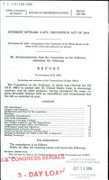 Internet Spyware  I Spy  Prevention Act of 2004 PDF