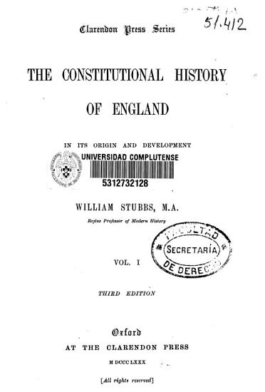 The Constitutional History of England PDF