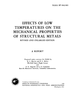 Effects of Low Temperatures on the Mechanical Properties of Structural Metals PDF
