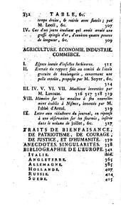 L'Esprit des journaux, françois et étrangers. Par une société de gens-de-lettres: Aout, 1783, Volume8