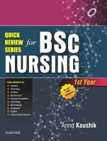 Quick Review Series for B Sc  Nursing  1st Year   E Book PDF