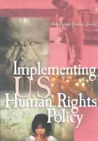 Implementing U S  Human Rights Policy PDF