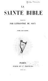 La Sainte Bible: Volume2