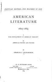 American Literature, 1607-1885 ...
