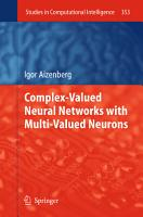 Complex Valued Neural Networks with Multi Valued Neurons PDF
