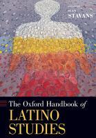 The Oxford Handbook of Latino Studies PDF