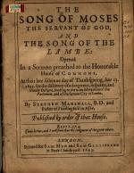 The Song of Moses, the Servant of God, and the Song of the Lambe