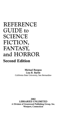 Reference Guide to Science Fiction  Fantasy  and Horror PDF