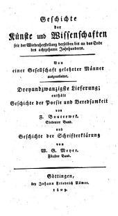 Geschichte der Poesie und Beredsamkeit seit dem Ende des dreizehnten Jahrhunderts: 7