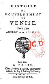 Histoire du Gouvernement de Venise