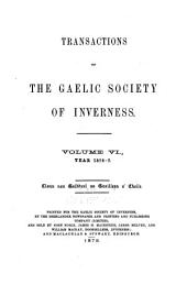 Transactions of the Gaelic Society of Inverness: Volume 6
