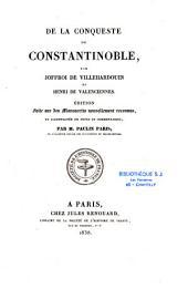 De la conqueste de Constantinoble
