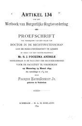 Artikel 134 van het wetboek van burgerlijke regtsvordering