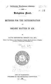 Methods for the Determination of Organic Matter in Air