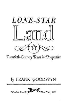 Lone Star Land PDF