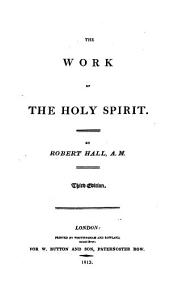 The work of the Holy Spirit: Volume 11