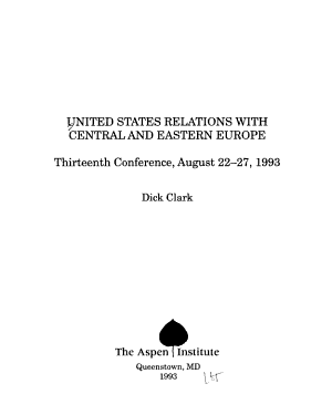 United States Relations with Central and Eastern Europe PDF
