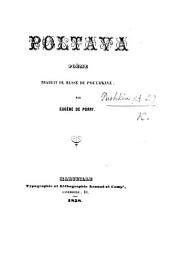 Poltava, poème traduit du russe ... par E. de Porry