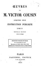 Oeuvres de M. Victor Cousin: Volume 2