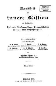 Monatsschrift f  r innere Mission PDF