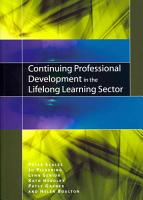 Continuing Professional Development In The Lifelong Learning Sector PDF