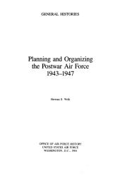Planning and Organizing the Postwar Air Force, 1943-1947