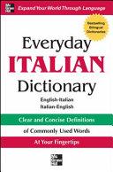 Everyday Italian Dictionary Book