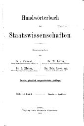 Handwörterbuch der Staatswissenschaften: Band 6