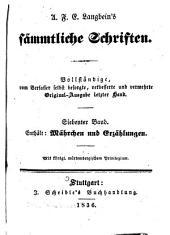 Sämmtliche Schriften: Vollständige, vom Verfasser selbst besorgte, verb. und verm. Original-Ausg. letzter Hand, Bände 7-8