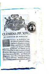 Clemens PP. 14. ad perpetuam rei memoriam