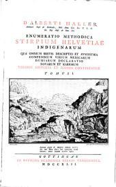 Enumeratio methodica stirpium Helvetiae indigenarum: Volume 1