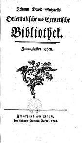 Orientalische und exegetische Bibliothek: Volumes 20-22