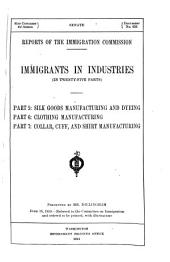 Immigrants in Industries: (v. 13) Slaughtering and meat packing