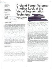 Dryland forest volume: another look at the visual segmentation technique