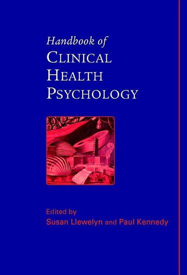 Handbook of Clinical Health Psychology PDF