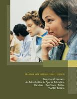 Exceptional Learners  Pearson New International Edition PDF