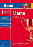 Bond 11  Test Papers Maths Multiple Choice Pack 2